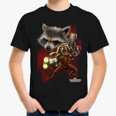 Детская футболка Реактивный Енот