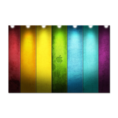 Наклейка (стикер)  Rainbow Apple