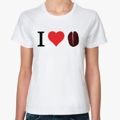 Классическая футболка I love coffee
