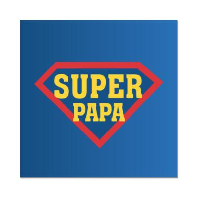 Наклейка (стикер) Супер папа