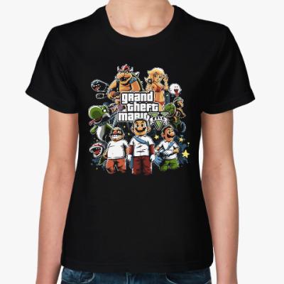 Женская футболка Супер Марио