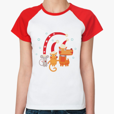 Женская футболка реглан Символ года