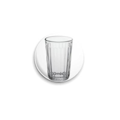 Значок 25мм  Гранёный стакан
