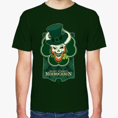 Футболка Мужская футболка Fruit of the Loom (темно-зеленая)