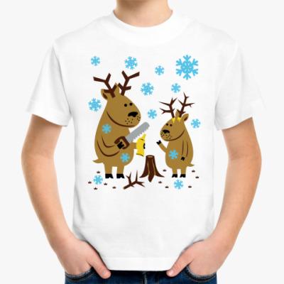 Детская футболка Олени с новыми рогами