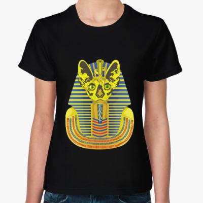 Женская футболка Кот фараон