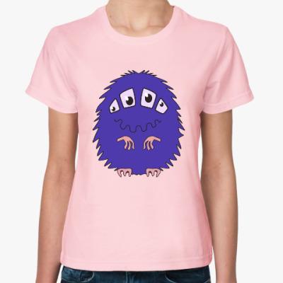 Женская футболка веселый монстр