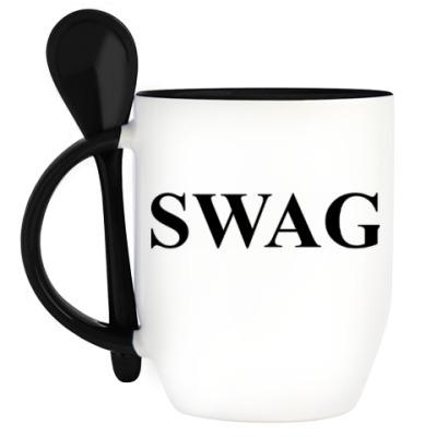Кружка с ложкой Swag