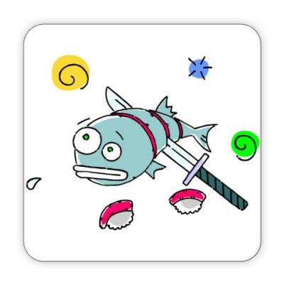 Костер (подставка под кружку) Рыба