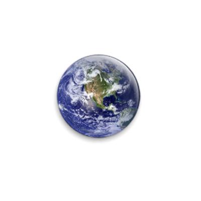 Значок 25мм 'Планета Земля'