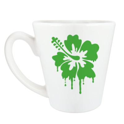 Чашка Латте Цветок