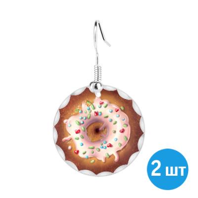 Серьги   пончик