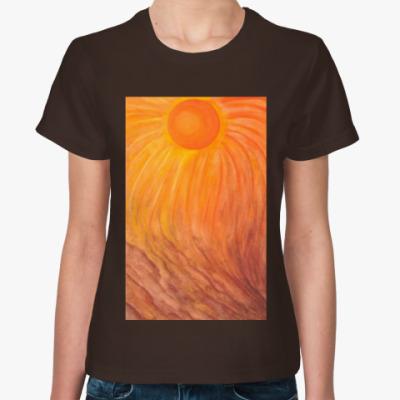 Женская футболка Львиное солнце