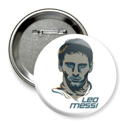 Значок 75мм Leo Messi