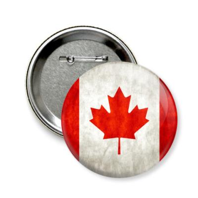 Значок 58мм Канада
