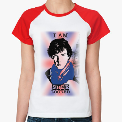 Женская футболка реглан Sherlock