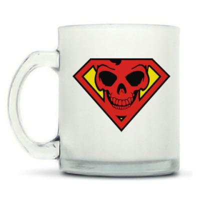Кружка матовая Skull Superman