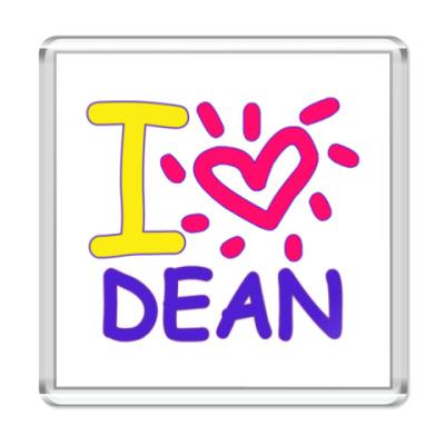 Магнит Supernatural - I love Dean