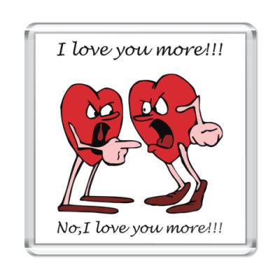 Магнит I love U more!