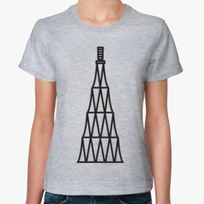 Женская футболка Шуховская башня