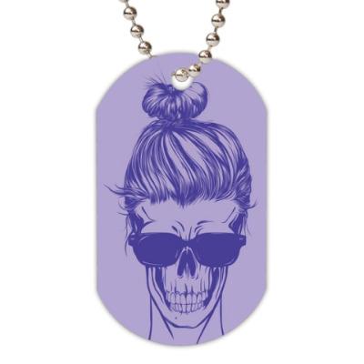 Жетон dog-tag 'skeleton girl'