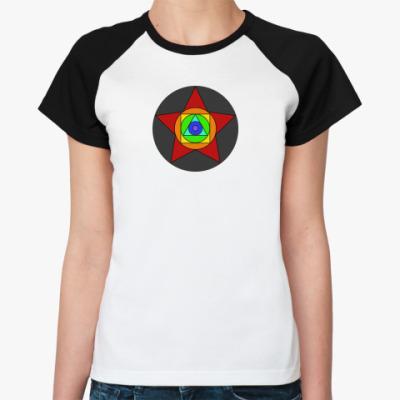 Женская футболка реглан Rainbow