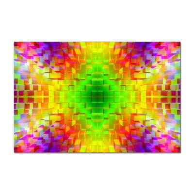 Наклейка (стикер)  Радужные кубики