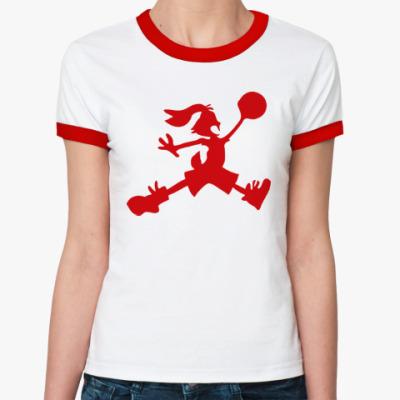 Женская футболка Ringer-T Jordan Bunny