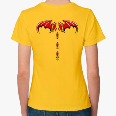 Женская футболка Крылья демона