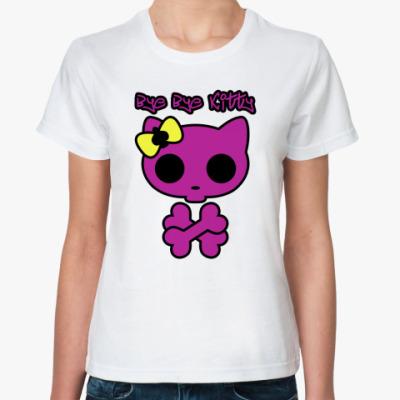 Классическая футболка  Bye Bye Kitty