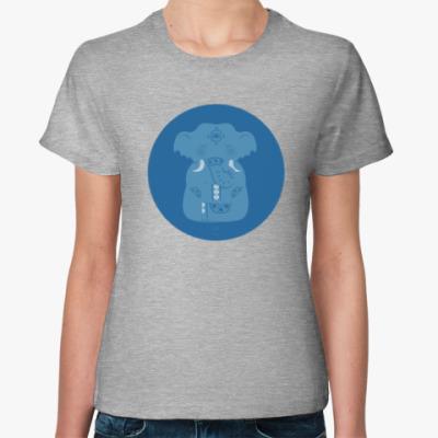 Женская футболка Animal Zen: E is for Elephant