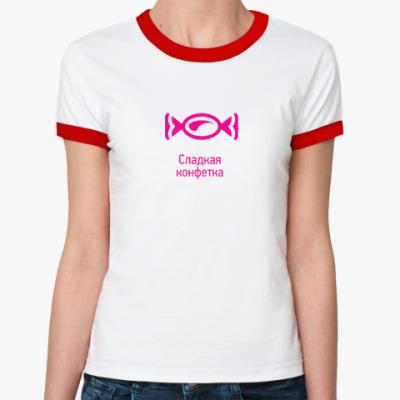 Женская футболка Ringer-T Сладкая конфетка