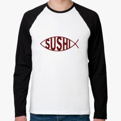 Футболка реглан с длинным рукавом Sushi
