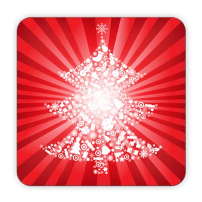 Костер (подставка под кружку) Новогодняя елка