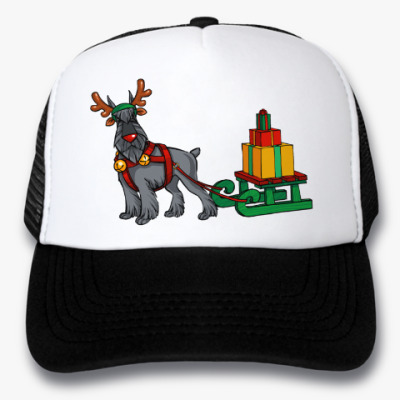 Кепка-тракер Новогодний Шнауцер