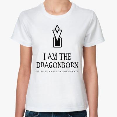 Классическая футболка Dragonborn Skyrim
