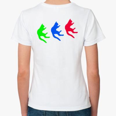 Классическая футболка Падающие коты