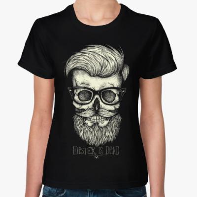 Женская футболка Череп Хипстера