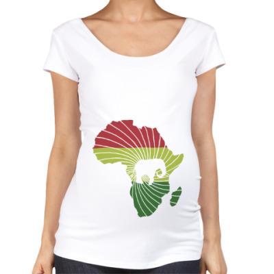 Футболка для беременных Африканский слон