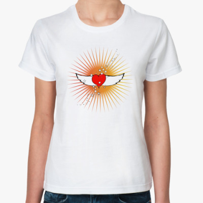 Классическая футболка Крылья любви