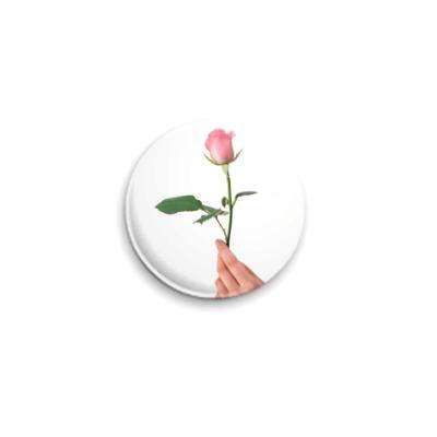 Значок 25мм Вам цветочек
