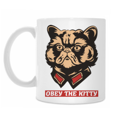 Кружка Obey the kitty.