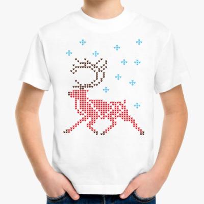 Детская футболка Олень северный