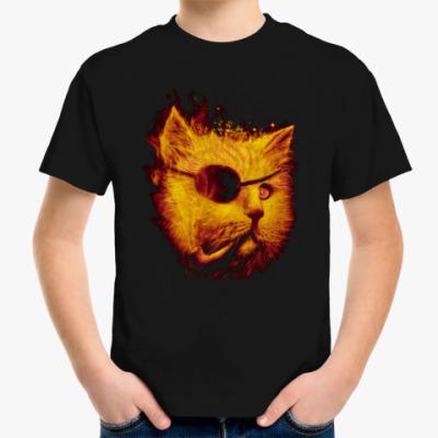 Детская футболка Одноглазый Кот