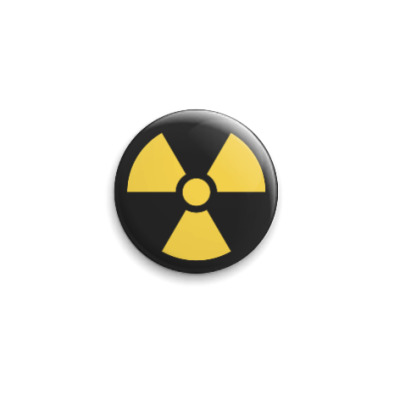 Значок 25мм Радиация