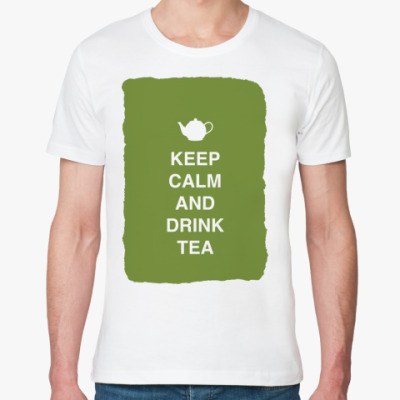 Футболка из органик-хлопка Keep calm and drink tea