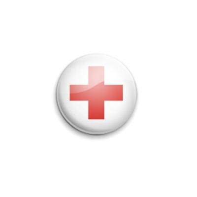 Значок 25мм Red-Cross