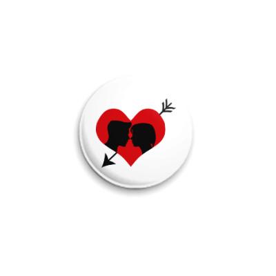 Значок 25мм Сердце хочет любви