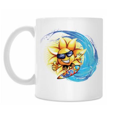Кружка Солнце на серфинге