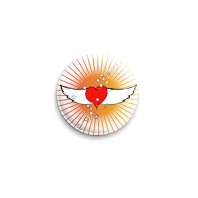 Значок 25мм Крылья любви